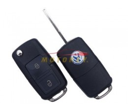VW 2 Button Flip Key Case