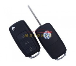 VW 3 Button Flip Key Case -...