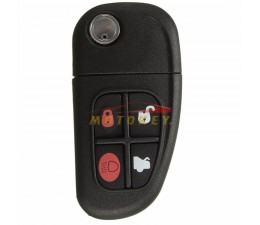 Jaguar 4 Button Flip Key Case