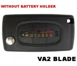 Citroen 3 Button Flip Key Case
