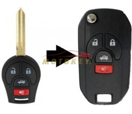Nissan 4 Button Flip Key...