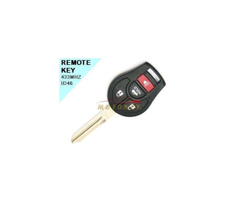 Nissan Tiida / Lavina / New Almera 4 Button Remote Key