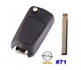 Opel 2 Button Flip Key Case