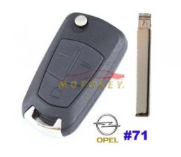 Opel 3 Button Flip Key Case